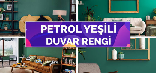 Yeşilin Farklı Bir Tonu Olan 35 Petrol Yeşili Duvar Rengi
